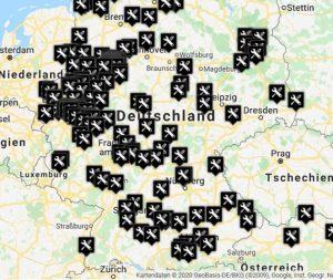 Karte mit allen Motorenspezialisten in Deutschland