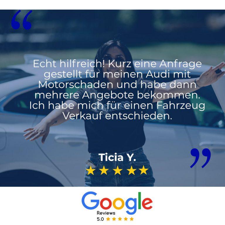 Google Bewertung mit Motorschaden