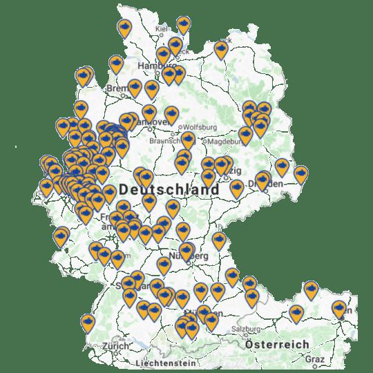 Deutschlandkarte Werkstatt profis