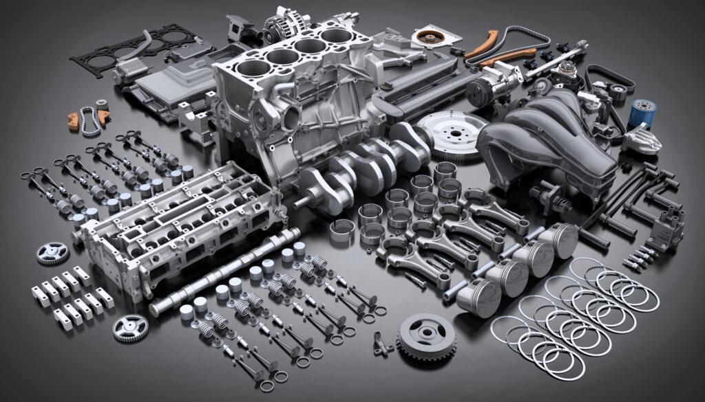 Motor ausgebaut und zerlegt